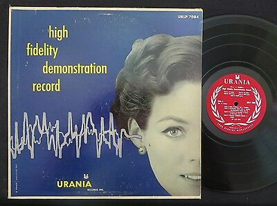 AUDIOPHILE MONO HI-FI TEST RECORD High Fidelity Demonstration URANIA 1950's ExNM