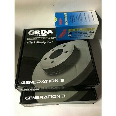 RDA Front Brake Rotors & Heavy Duty Pads fits Holden Rodeo 1998-02 3.2L V6 Only