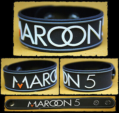 MAROON 5 Rubber Bracelet  Wristband    Hands All Over