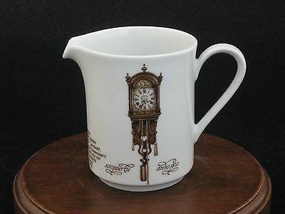 "Mitterteich ""Pendulum Clock"" Creamer Made in Bavaria Germany"