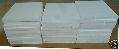 """30  STYROFOAM  SHEETS  6"""" X  6"""" x  1/2""""  FREE SHIP-SEE DETAILS ABOUT SHIPPING."""