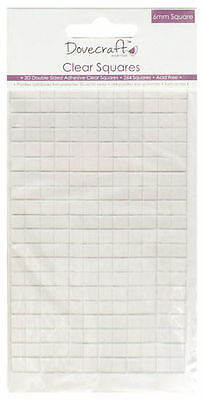 264 CLEAR DOUBLE SIDED STICKY CRAFT PADS - 6mm SQUARE