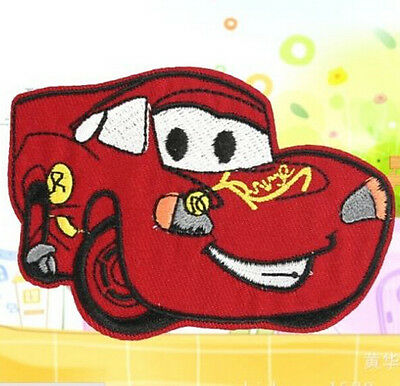 Embroidered Cloth Iron On Patch Sew Motif Applique Cartoon Car Red ~1pcs~