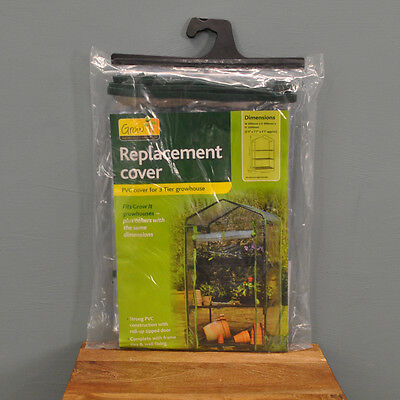 Gardman 3 Tier Mini Greenhouse Growhouse Replacement Cover for Garden Plant Care