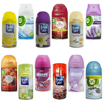3 X Airwick, Airpure & Fresh Air Freshmatic Spray Refills 250ml Air Freshner