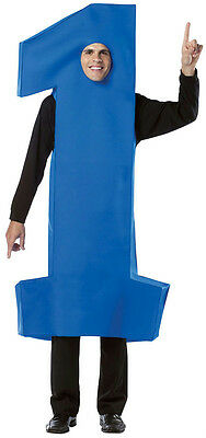 Blue Number One #1 Adult Costume Tunic