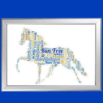 WORD ART FOR Pet Memorial - HORSE- LOST PET - PERSONALISED (ANY PET AVAILABLE)