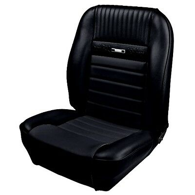 1964 1965 1966 Mustang Convertible Front Rear Deluxe Seat Covers Black FOAM TMI
