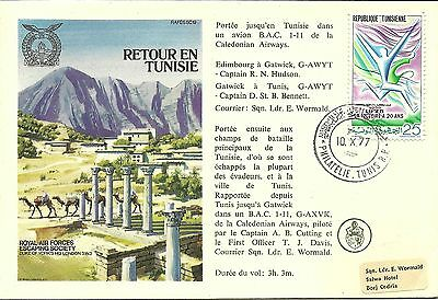 10/10/1977 Tunisia FDC - Royal Air Forces Escaping Society - RAFES SC19