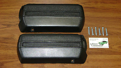 """Arm Rest Bases Black Pair w/Screws Front Lower Base 11.5"""" pad A,F,X,B Body GM"""