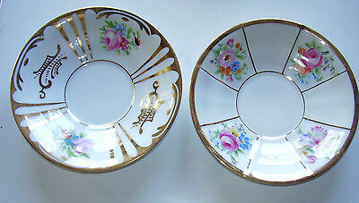 Saucers Dishes x 2 KPM Berlin 1931 Centenary Lovely Florals & Glit