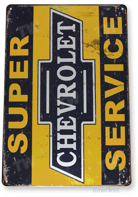 "TIN SIGN ""Chevrolet S-Service"" Decor Wall Art Garage Auto Shop A289"