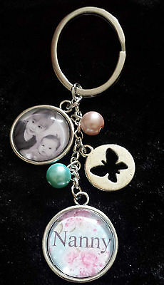 Christmas Gift Nanny Nana Auntie Sister  Photo Picture Gift Keyring Bag Charm