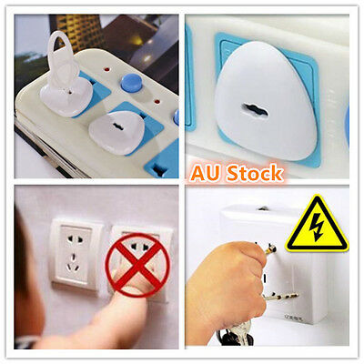 24 x Power Board Socket Outlet Point Plug Protective Covers Baby Child Safety