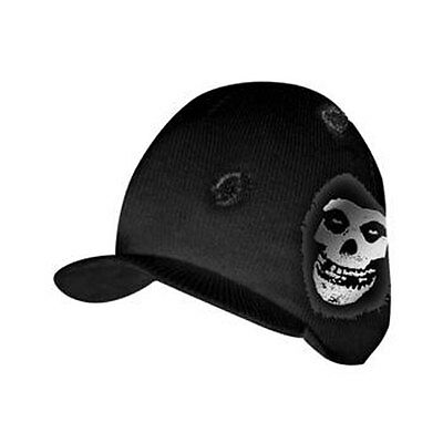 Misfits: Bullet Hole Silver Print Billed Beanie Hat - New & Official With Tag