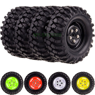 "1/10 RC 4WD Car JEEP Rock Crawler Rally Truck Tires & 1.9"" Wheels Rims Tyre"