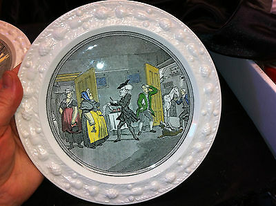 """ADAMS MICRATEX """"DR SYNTAX DISPUTING HIS BILL WITH THE LANDLADY"""" COLLECTORS PLATE"""