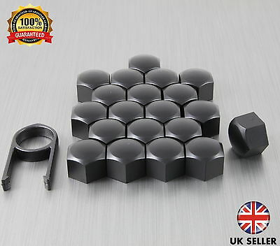 20 Car Bolts Alloy Wheel Nuts Covers 17mm Black For Alfa Romeo Mito