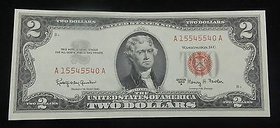 (1) 1963 A $2 RED SEAL Note CRISP UNCIRCULATED Legal Tender Currency
