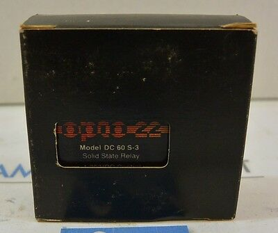Opto 22 DC60S3   Solid State Relay NEW!