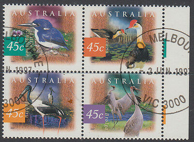 1997 Birds Block of 4 CTO/VFU