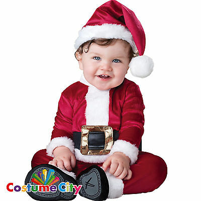 Baby Classic Luxury Father Christmas Santa Fancy Dress Costume 0-24 Months