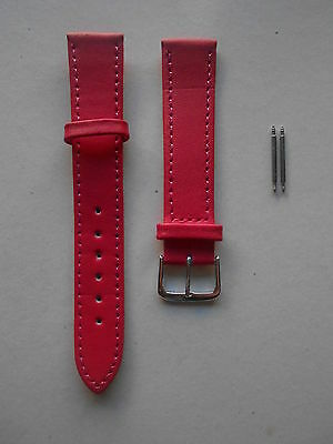 CINTURINO OROLOGIO IN SIMIL PELLE ROSSO 10mm 12mm 14mm 16mm 18mm 20mm 22mm