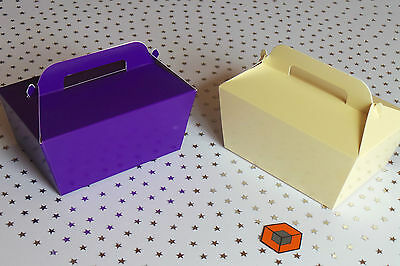 10 or more Large Single Cake Slice Boxes in Cream or Purple