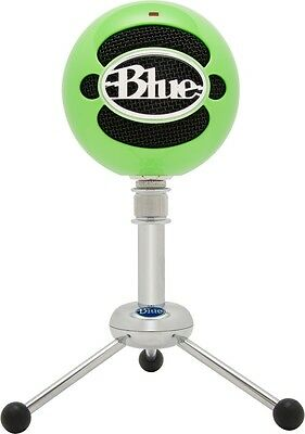 New Blue Microphones Snowball Neon Green USB Microphone Mic Recording Vocals