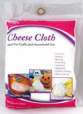 CHEESE CLOTH 100% BLEACHED COTTON 2 SQ YARDS Square Yards