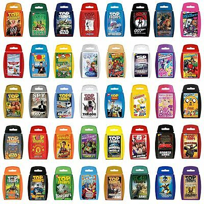 TOP TRUMPS CARD GAME - BIG SELECTION CHOOSE YOUR FAVOURITE TRUMP LATEST DESIGNS