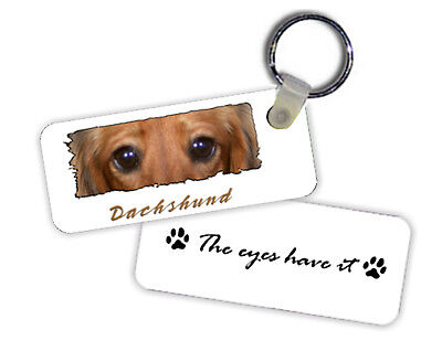 Dachshund  Longhaired  # 1  red  color  The  Eyes Have It   Key  Chain