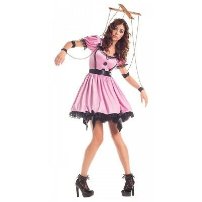 Marionette Costume Adult Creepy Doll Halloween Fancy Dress