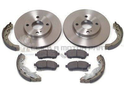 Ford Fiesta Mk7 2008-2017 Front 2 Vented Brake Discs & Pads And Rear Shoes Set