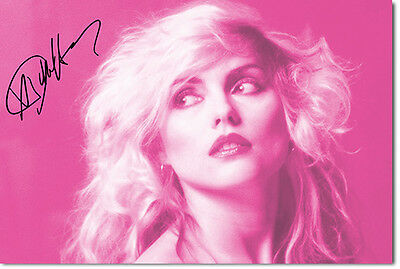 DEBBIE HARRY - BLONDIE - SIGNED PHOTO PRINT POSTER -  EXCELLENT QUALITY