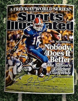 Tim Tebow Autographed Signed 11x14 Sports Illustrated cover Gators 10/19/09PROOF