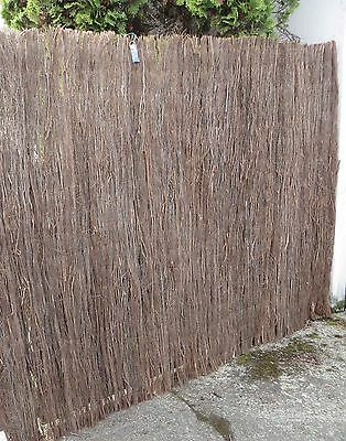 6' High Heather Brush wood Rolled Fence (6'H x 14'W), natural privacy fence