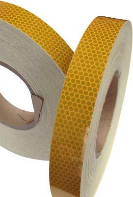 Hi Viz High Intensity Reflective Tape Amber 25mm x 5m Weatherproof Strong