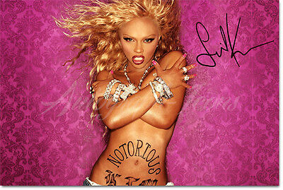LIL KIM SIGNED PHOTO PRINT POSTER - INCREDIBLE PROFESSIONAL PRINT