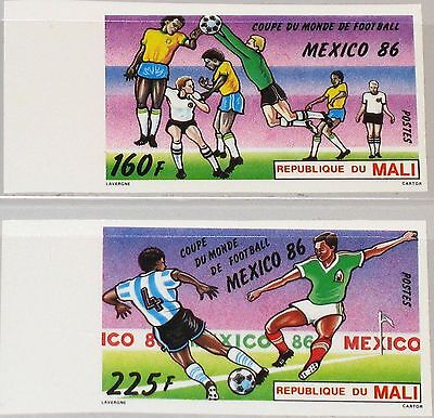 MALI 1986 1068-69 U 535-7 IMPERF Soccer World Cup Mexico Fußball WM Football MNH