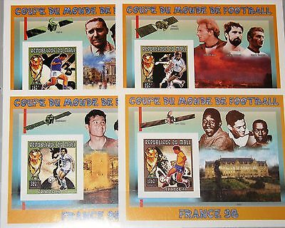 MALI 1996 Block A 95- D 95 B Soccer World Cup 1998 France Fußball Football MNH