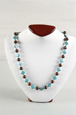 Exquisite Vintage Natural Brecciated Jasper and Magnesite Necklace