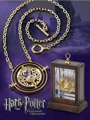 Harry Potter Time Turner Necklace Hermione Granger Spins Gold Hourglass 5Colors
