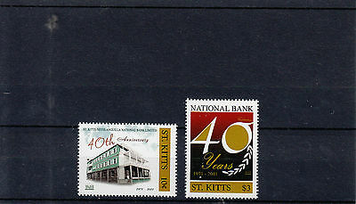 St Kitts 2011 MNH National Bank 40th Anniv 2v Set St Kitts-Nevis-Anguilla Bank