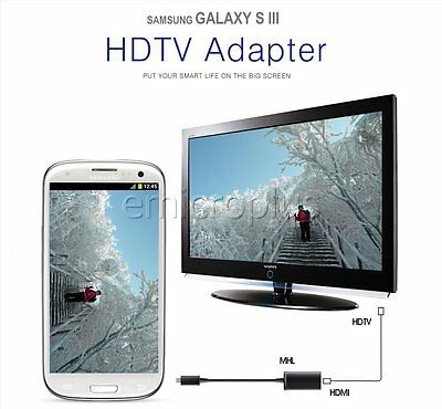 Micro USB MHL to HDMI Cable Adapter Converter for Samsung Galaxy S3 S4 S5