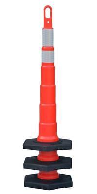 "25 - 48"" Looper Cone. Stackable. Traffic Safety.  25 - 16lb bases 2 Reflective"