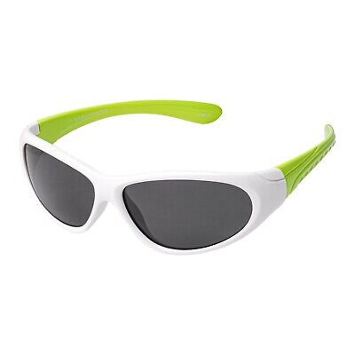 Childrens kids Wraparound stylish High Quality Green and White uv400 sunglasses