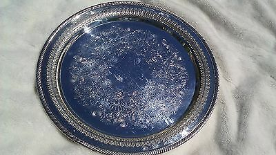 """Great condition! 15"""" Round Silver plate Wm Rogers Platter ~ 172"""