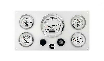 Cummins Marine Engine Instrument Panel, 5 Gauges, with wiring harness pigtail