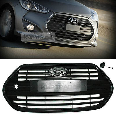 OEM Front Bonnet Radiator Grille Unpainted for HYUNDAI 2013-2017 Veloster Turbo